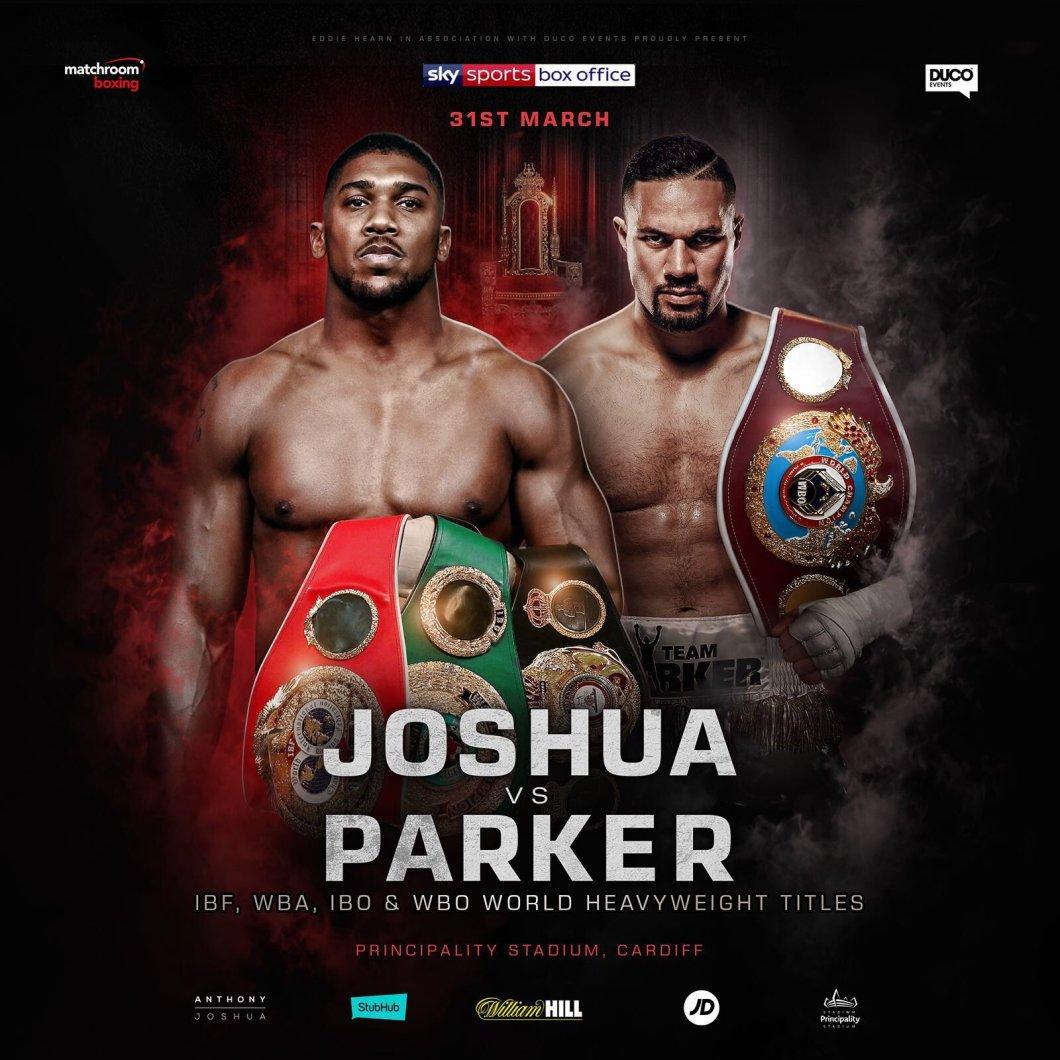 Boxing_Poster_MatchroomBoxing_AnthonyJoshua_JosephParker_2018_033118